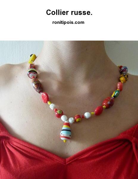 Collier de perles d'inspiration russe.